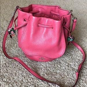 Pink leather tulip Coach purse